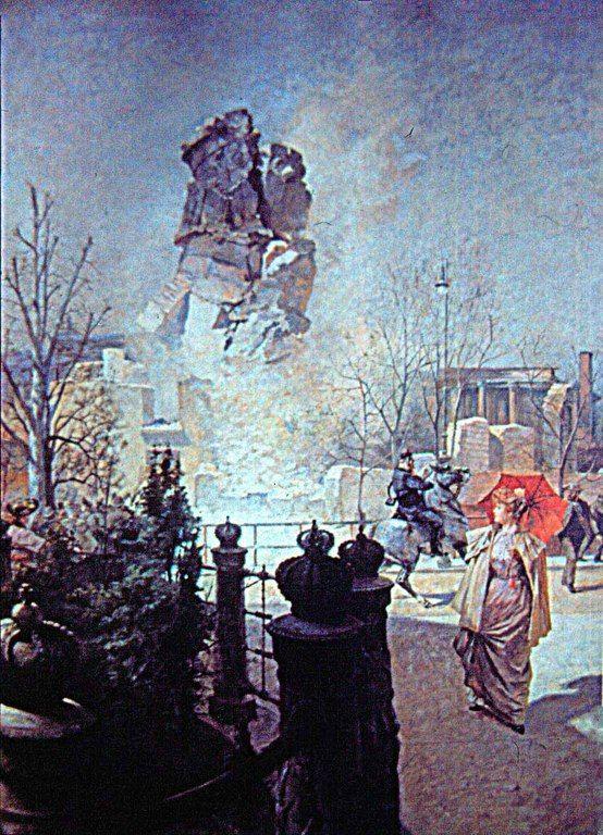 Berliner Dom_Sprengung des Turms, am 2. April 1892, von Fritz Gehrke