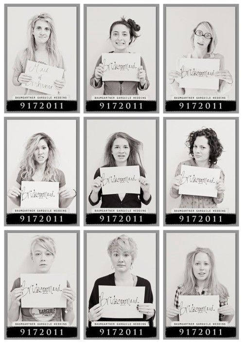 Bridal Party Morning After Bachelorette Mugshots. love it!