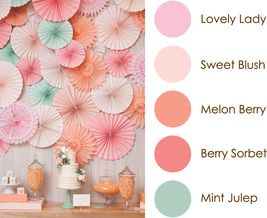 February 2016 Color Play - Lovely Lady, Sweet Blush, Melon Berry, Berry Sorbet, Mint Julep: