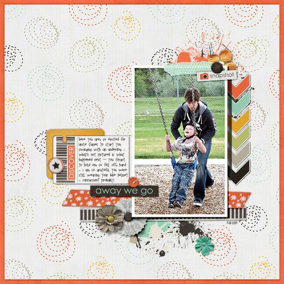 digital scrapbook page by suzy