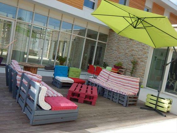 Muebles de terraza con palets muebles de terraza - Muebles de terraza con palets ...