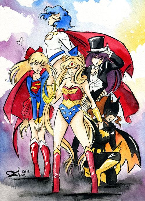 Inner Senshi As Superheroes. Mercury Is Power Girl, Venus ...