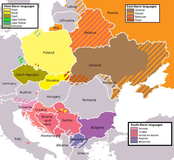 Slavic languages I think a lot of people group Slavs together as – Map of Germany and Holland Together