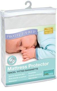 Waterproof Bassinet Mattress Protector breathable Tencel PVC-free