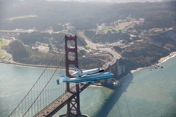 Endeavour over Golden Gate bridge  SEPT. 2012