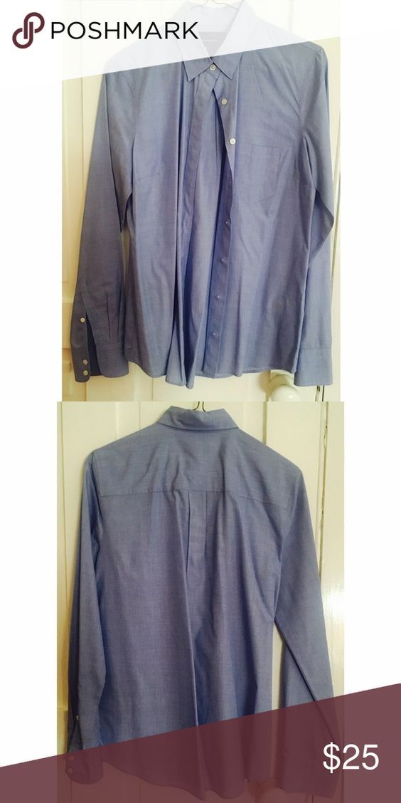 J.Crew Blue Button Down Shirt Great addition to your fall closet! In great condition & never worn! J. Crew Tops Button Down Shirts