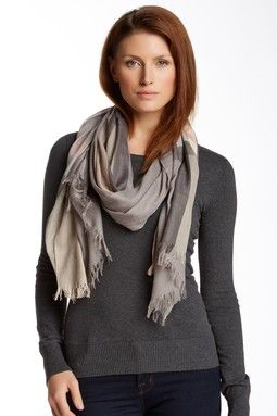 V Jacquard Plaid Scarf