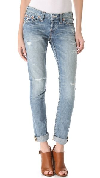 Probably the most perfect light wash denim ever (and they're True Religion...crazy right?)