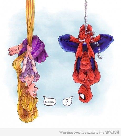 Rapunzel & Spiderman