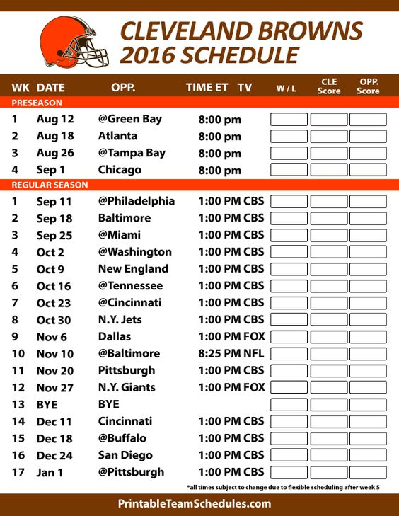 Cleveland Browns 2016 Football Schedule. Print Schedule Here -  http://printableteamschedules.com/NFL/clevelandbrownsschedule.php