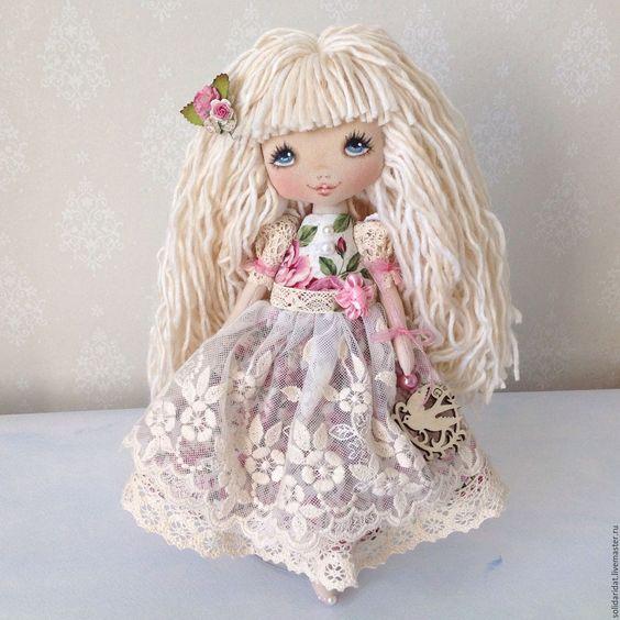 Купить Малышка шебби - кремовый, солнышко, кукла купить, кукла в подарок, кукла ручной работы ♡: