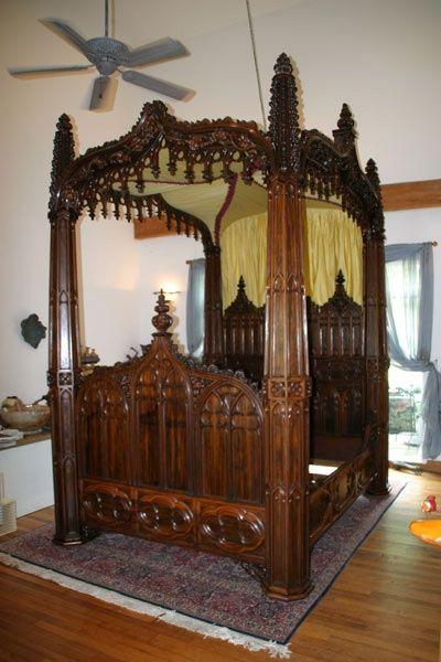 Goth:  #Gothic Bed ~ Loftylovin (Gothic & Victorian Style Beds).