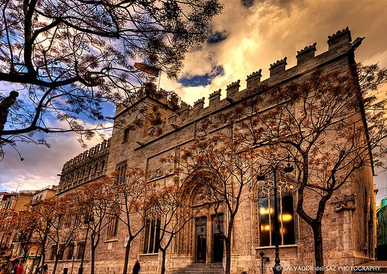 La Lonja de la Seda (Valencia, Spain).
