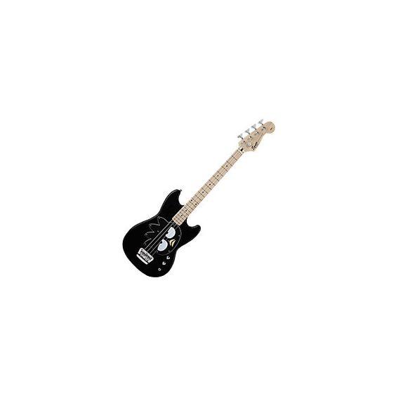 shop.sanrio.com - Badtz-Maru Fender Bronco Bass Guitar, Black (7,195 THB) found on Polyvore