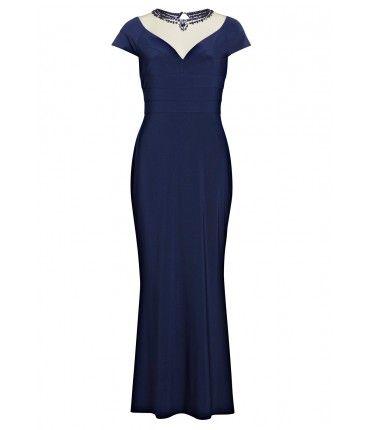 Gina bacconi long black dress