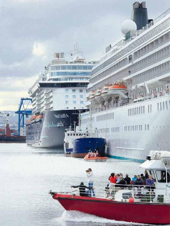 Cruise Vessels in Reykjavik 18.7. 2016,  www.nco.is , NCO eCommerce, IoT, www.netkaup.is: