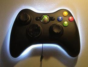 Decorate Your Game Room With A Giant Xbox Controller Video Decoratingagameroomlife Gamer Room Diy Xbox Controller Gamer Room