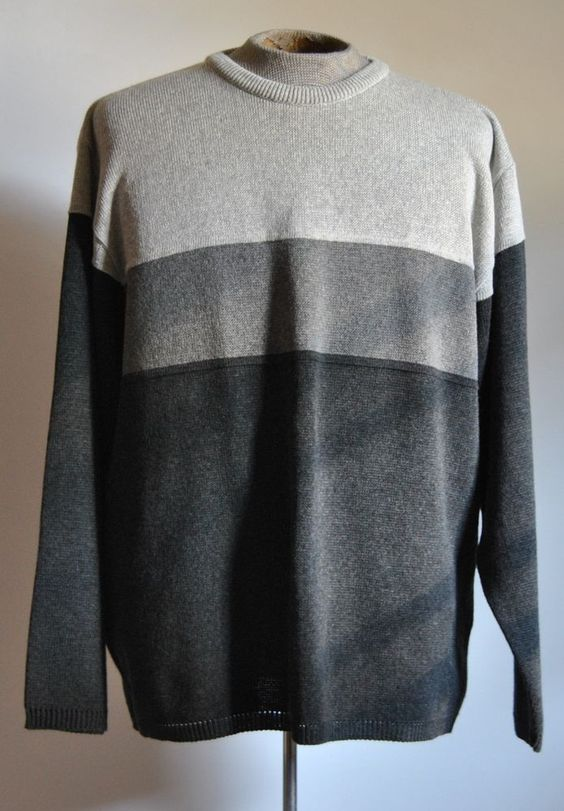 Clockhouse Sweater XL Mens Crewneck Long Sleeve MultiColor Striped Cotton Blend  #Clockhouse #Crewneck free shipping auction starting at $12.99