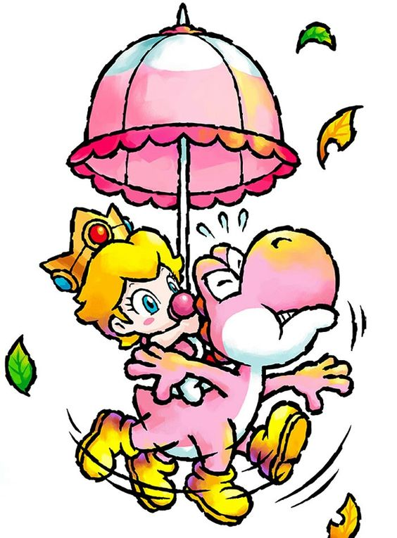 Yoshi Baby Peach - Characters Art - Yoshis Island DS.jpg