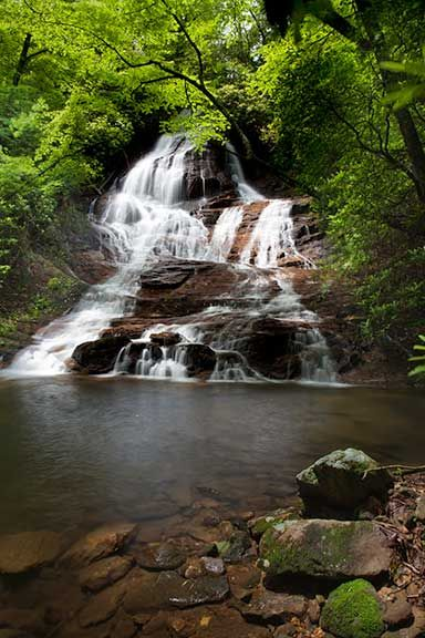 While most people visit Amicalola Falls, Fall Creek Falls in Dawson County is not to be ignored either. This is a lesser known set of four waterfalls available to hike to.