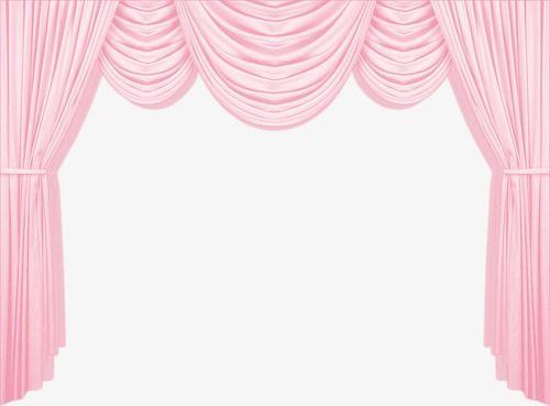 Pink Curtains Curtain Heart