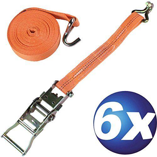 /blau DiversityWrap 6/x Ratsche Gurt Tie Down 5/m 25/mm Eisen Griff und Doppelten J Haken 800/kg Gurtband/