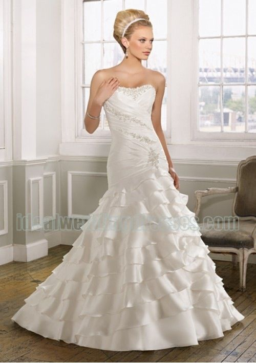 Ruffles wedding dress