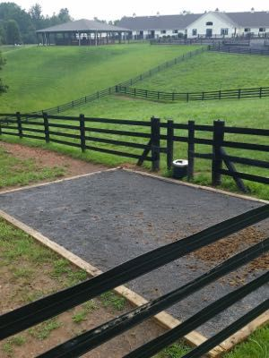 I am a huge fan of having these pits/mats by the waterer and by the main gate to stop it from becoming a mud hole. Which is a big problem here in western Canada. (Also this link has some cool tips)