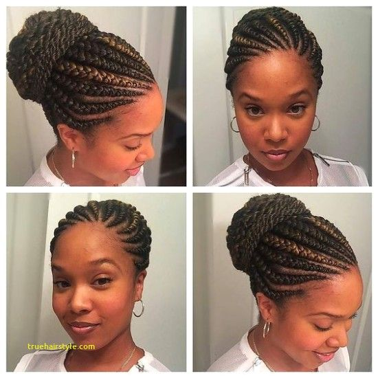 Unique Braided Straight Up Hairstyles Natural Hair Styles Braided Hairdo African Braids Hairstyles