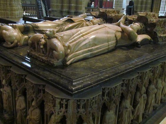 catedral de pamplona sepulcro - Carlos el Noble y Leonor de Castilla.