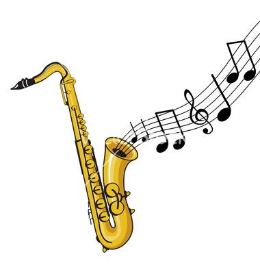 Saxophone and notes logo research pinterest cartoon - Saxophone dessin ...