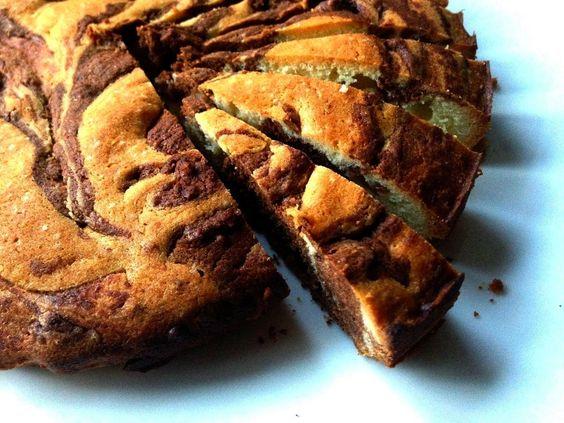 Na Cozinha da Margô: Bolo Mármore de Banana e Chocolate