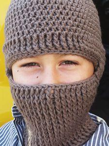 Free Knitting Pattern For Dog Balaclava : Crocheted Helmet Liner: Free #crochet and #knit balaclava patterns to keep yo...