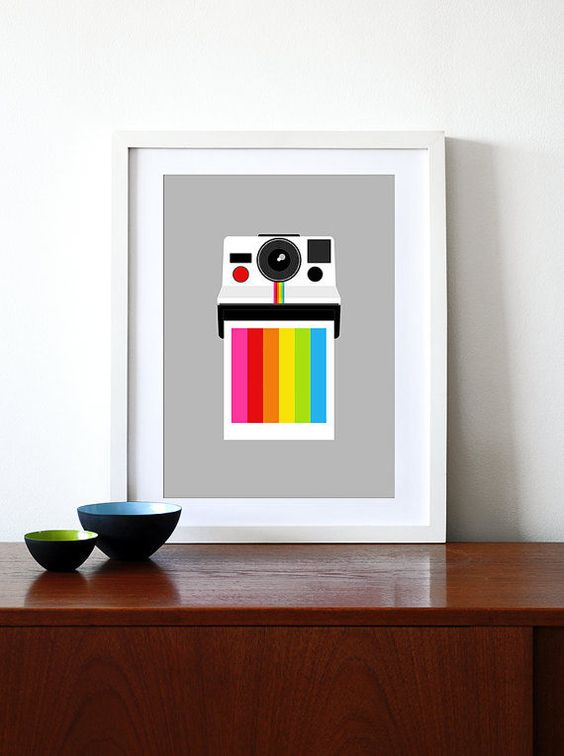 Poster Polaroid Retro - Hey You - A4 - R$ 25