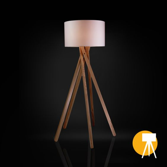 #Tripod #Stehlampe #Ebba #style #Inneneinrichtung #beleuchtung #sixpod #holz #möbel #trend