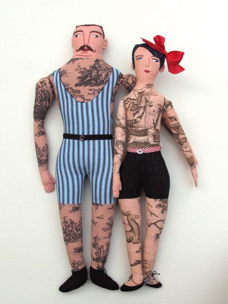 tattoed dolls