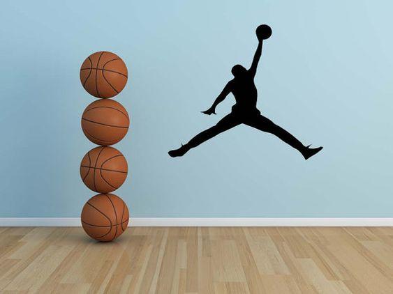 Michael jordan jordans and basketball on pinterest - Michael jordan bedroom decor ...
