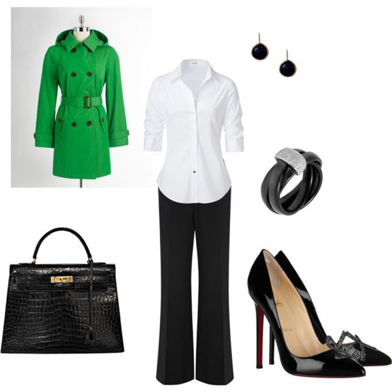 Worker Chic, created by #amanda-wefing on #polyvore. #fashion #style STEFFEN SCHRAUT MICHAEL Michael Kors