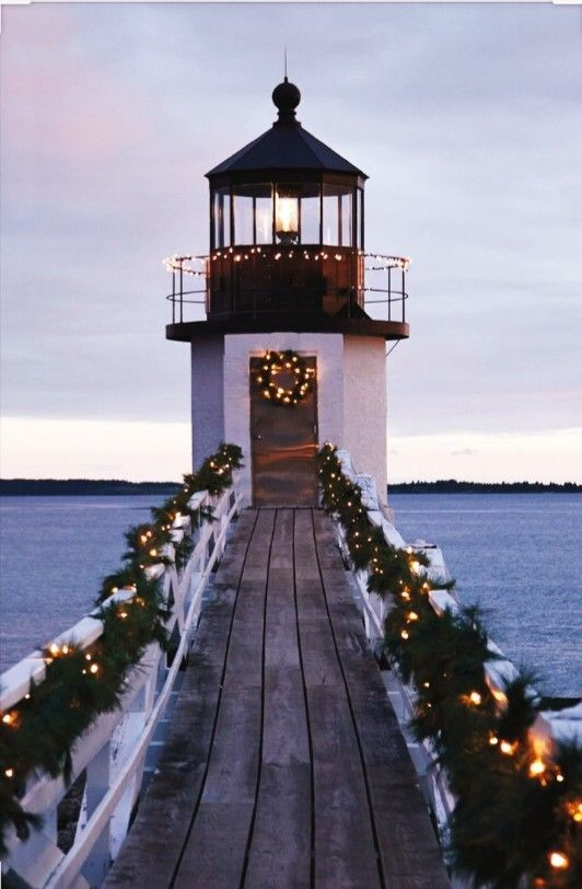 1907 Isle Au Haut Lighthouse Robinson Point Maine Lighthouse Coastal Christmas Beautiful Lighthouse