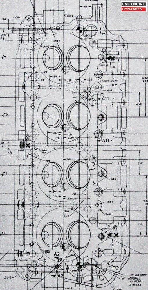 Original blueprint / diagram of a 1965 426 Hemi head | Engineering,  Mechanical art, Hemi enginePinterest