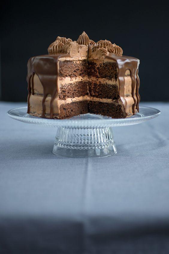 Chocolate último y de la torta Nutella