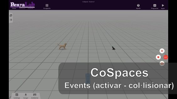 CoSpaces – Esdeveniments en clicar i en col·lisionar