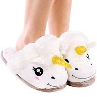 Wish | Adult Warm Soft Plush Winter Cute Men Women Unicorn Slippers Home Indoor Shoes