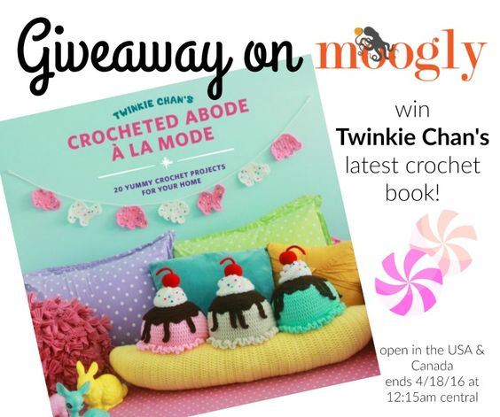 Twinkie Chan has a new book! Crocheted Abode À La Mode! Win your own copy on Mooglyblog.com - see post for details!