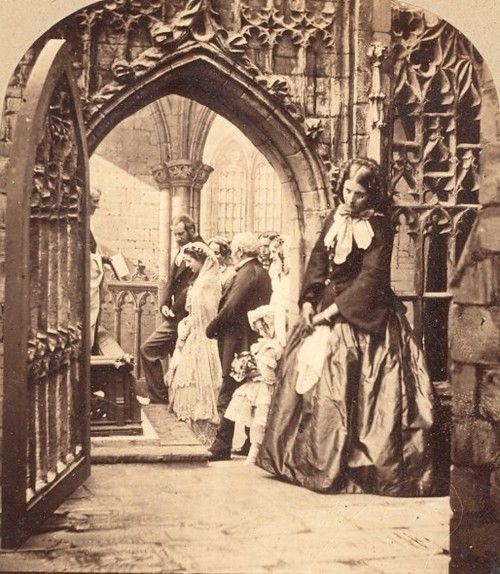A Victorian woman at mass
