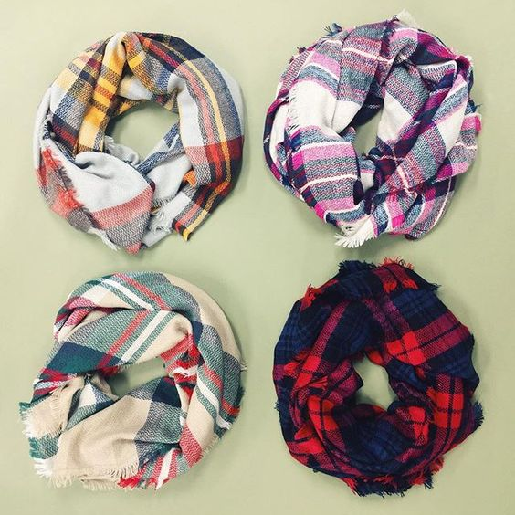yes please, Plaid Scarves: