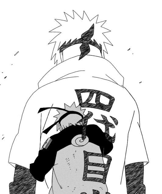 Por Tras De Um Grande Filho A Um Grande Pai Naruto Desenho
