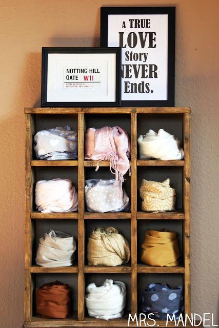 Regal für Schals und Tücher | DIY | Pinterest