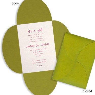 5 x 7 Wedding Bloom Wedding Invitations by MyGatsby.com