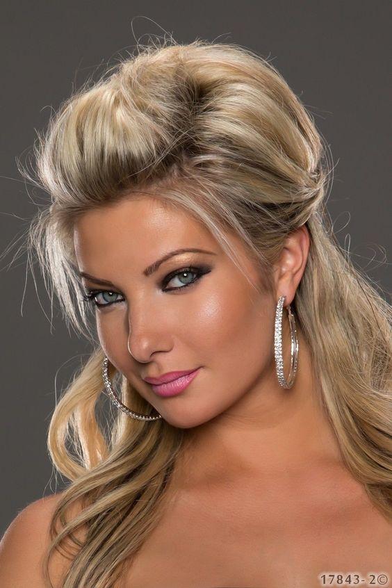 Wunderschöne #XXL Damen #Ohrringe mit Strass-Steinchen verziert. #strass